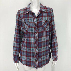 Dickies Womens Large Flannel Shirt Plaid Work